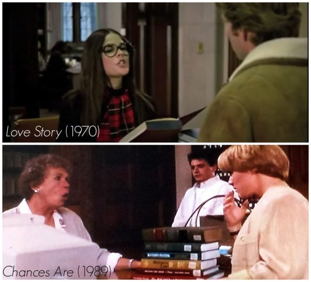 Library scenes in Chances Are and Love Story