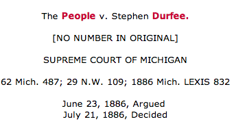 People v. Durfee case snapshot from the LexisNexis database