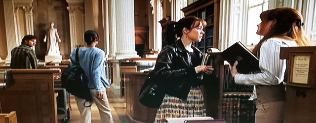 Reel Librarians  |  Screenshot from 'The Time Traveler's Wife'