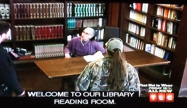 Reel Librarians  |  Screenshot from 'What Not to Wear' episode