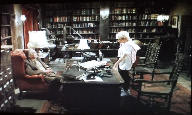 Private library setting in From a Whisper to a Scream (1987)
