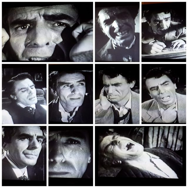Facial expressions of the lead actor in The Tell-Tale Heart (1960)