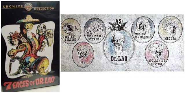 DVD case and title card for 7 Faces of Dr. Lao