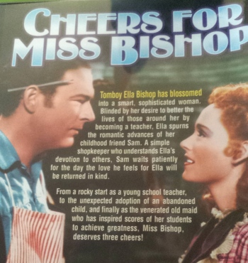 Reel Librarians  |  DVD cover for 'Cheers for Miss Bishop' (1941)