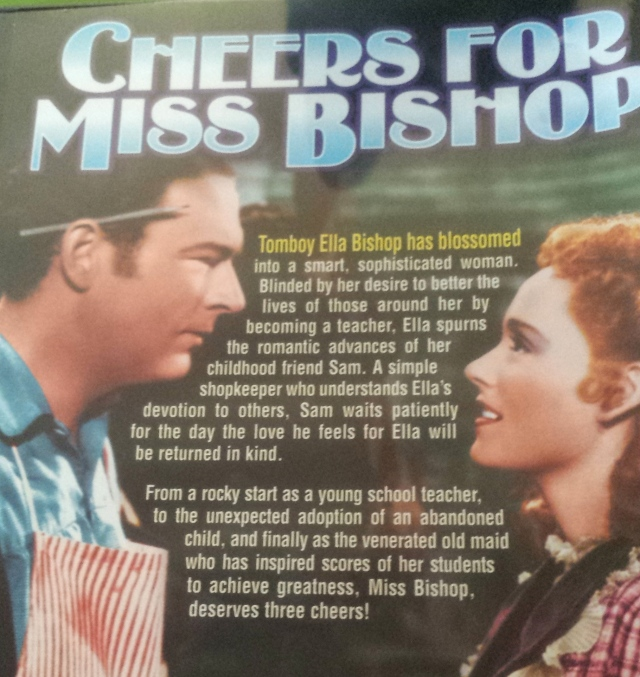 DVD back cover for Cheers for Miss Bishop (1941)