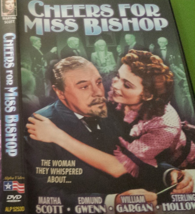 DVD front cover for Cheers for Miss Bishop (1941)