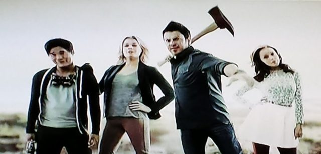 Screenshot from The Librarians TV premiere episode, 2014