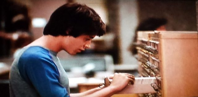 Library card catalog in WarGames (1983)