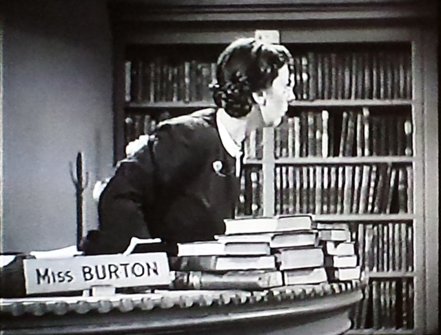 Reel Librarians  |  Boston Blackie and the shushing librarian