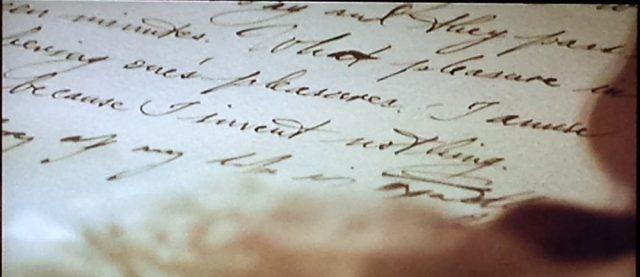 Casanova writing his memoirs in Casanova (2005)
