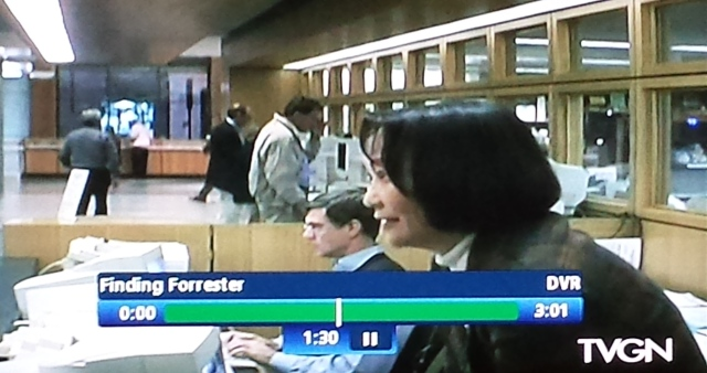 Reel Librarian  |  Screenshot of the library scene in 'Finding Forrester'