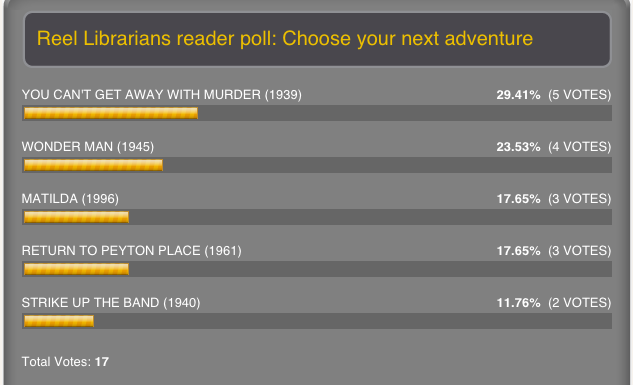 Reel Librarians  |  Reader poll winner screenshot