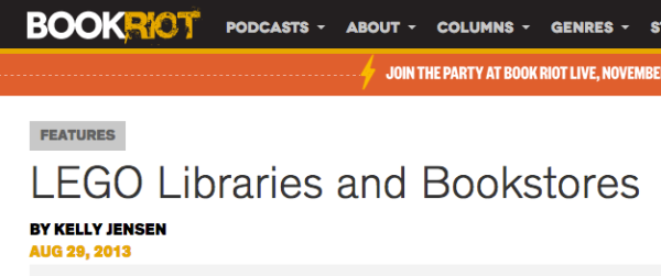Screenshot of LEGO Libraries and Bookstores post