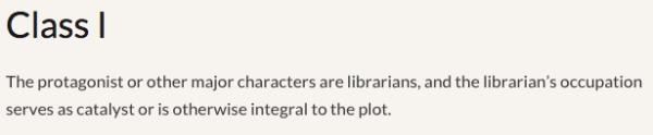 Reel Librarians  |  Class I films