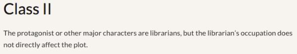 Reel Librarians  |  Class II film