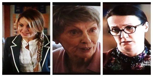 Reel librarians Roe, Jane, and Lillian in A Bone to Pick: An Aurora Teagarden Mystery (2015)