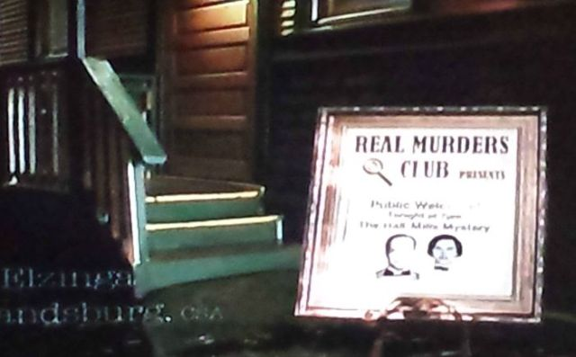 Real Murders Club in A Bone to Pick: An Aurora Teagarden Mystery (2015)