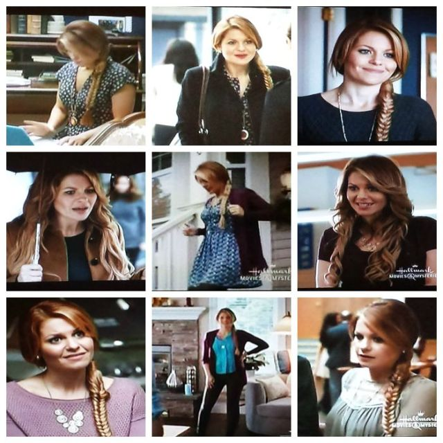 Reel Librarians  |  Collage of Roe's style in 'A Bone to Pick:  An Aurora Teagarden Mystery' (2015)