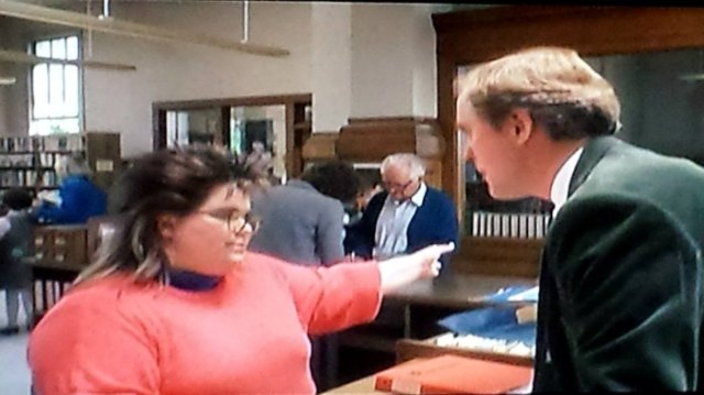 Reel Librarians  |  A screenshot from 'Harry and the Henderson' (1987)