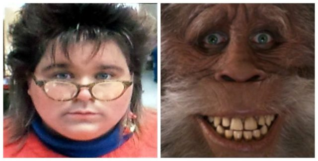Comparing the reel librarian and Bigfoot from Harry and the Hendersons (1987)