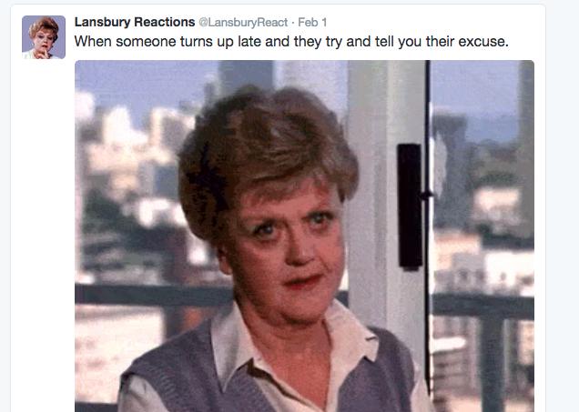 Lansbury Reactions tweet