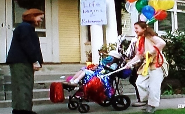 Reel Librarians | Retirement balloons in 'Follow the Stars Home' (TV, 2001)