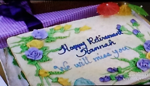 Reel Librarians | Retirement cake for a librarian in 'Follow the Stars Home' (TV, 2001)