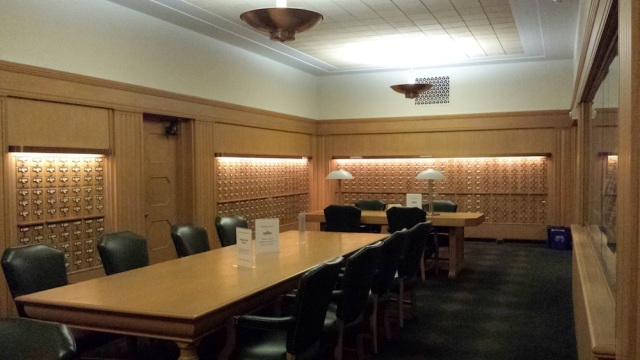 Oregon State Library card catalog room