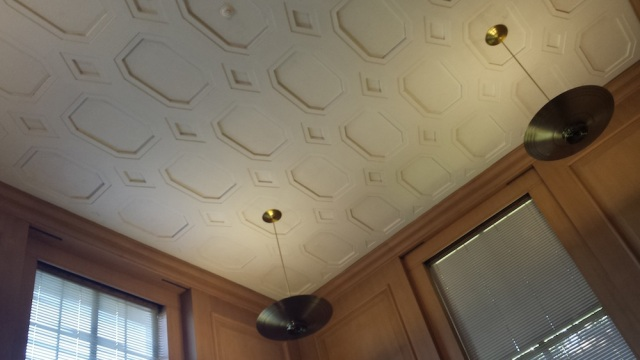 Oregon State Library ceiling and design motif