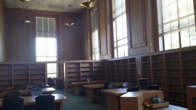 Reel Librarians | Oregon State Library old genealogy room