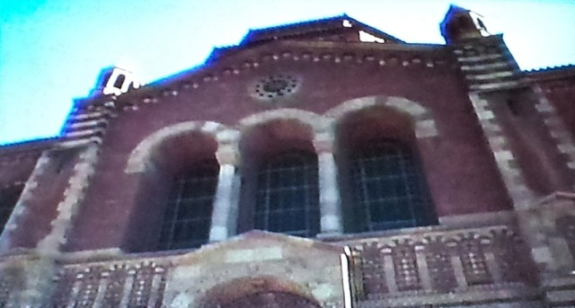 Reel Librarians | Library exterior from 'Transylvania Twist' (1989)