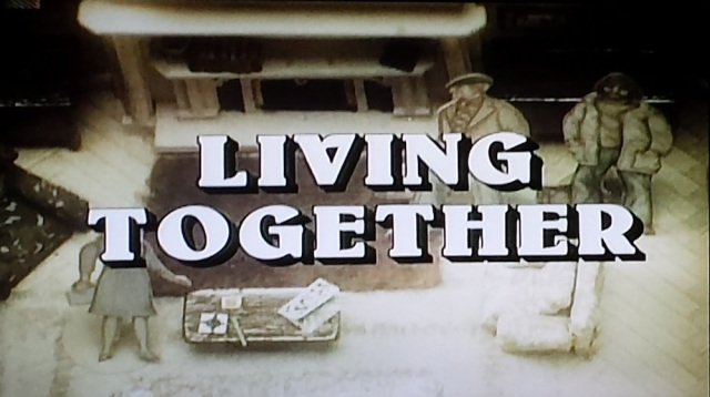 "Reel Librarians | ""Living Together"" title card from 'The Norman Conquests' (1977)"