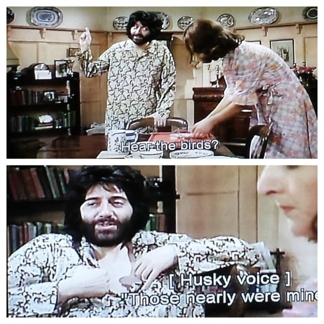 Reel Librarians | Norman in his pajamas from 'The Norman Conquests' (1977)