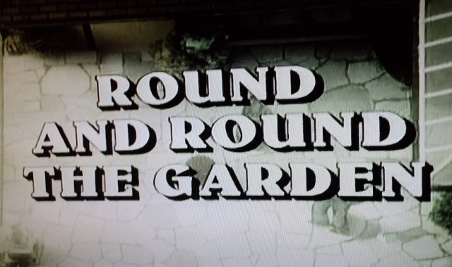 "Reel Librarians | ""Round and Round the Garden"" title card from 'The Norman Conquests' (1977)"