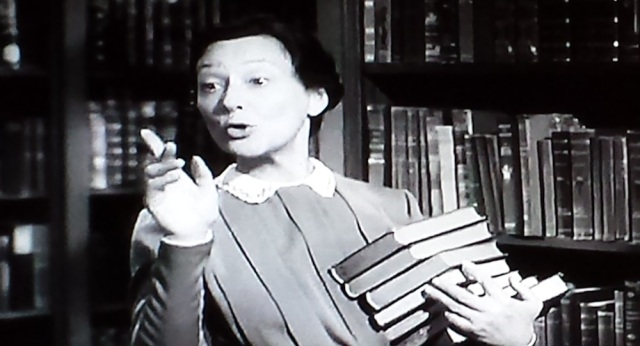 The shushing librarian in The Philadelphia Story (1940)