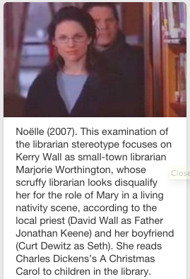 Screenshot of Noelle pin from 'Libraries on Film' Pinterest board