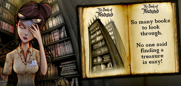 Screenshots from 'The Book of Treasures' online game