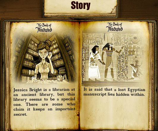 Storyline from The Book of Treasures online game