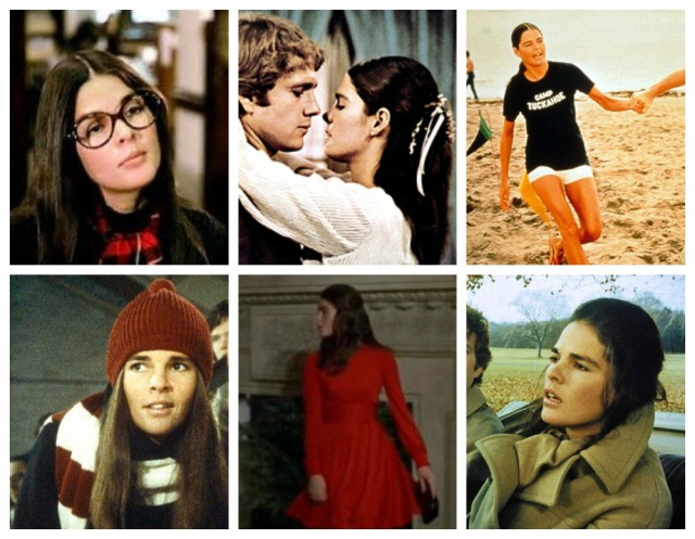 Collage of Jenny's style in Love Story