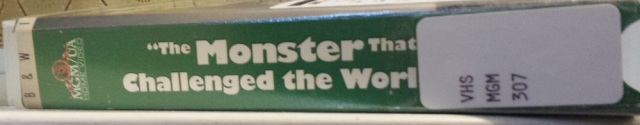 VHS copy of The Monster That Challenged the World
