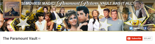 Paramount Vault YouTube header