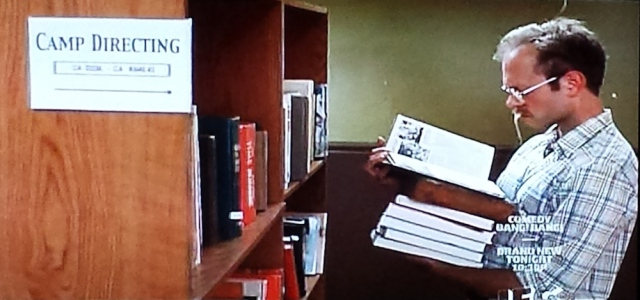 Screenshot of the library scene in Wet Hot American Summer