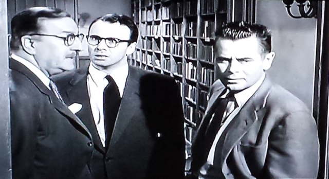 Reel Librarians | Screenshot of the aftermath of the library scene from 'Blackboard Jungle' (1955)