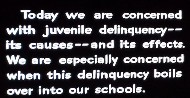 Intro card from Blackboard Jungle (1955)
