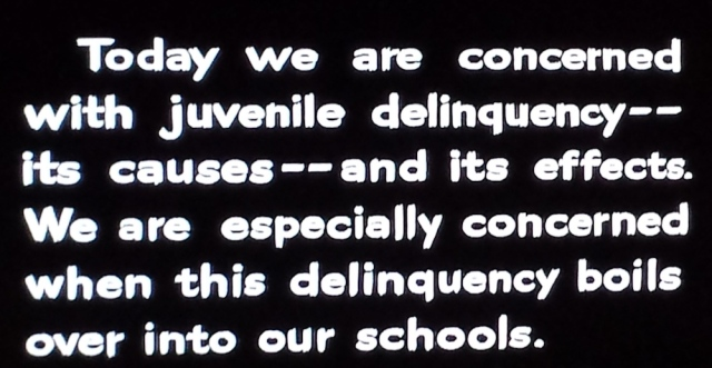 Reel Librarians | Intro card from 'Blackboard Jungle' (1955)