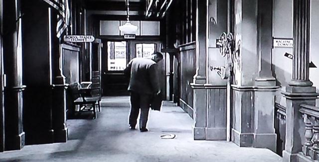 Outside the school library in Blackboard Jungle (1955)