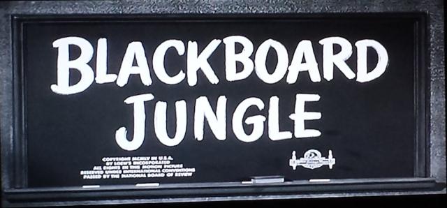 Title card from Blackboard Jungle (1955)
