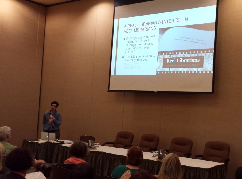 Presenting my reel librarians program at the OLA Conference 2016
