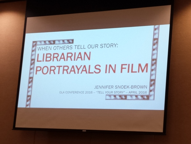 Intro slide from my reel librarians program at the OLA Conference 2016