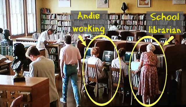 Reel Librarians | Screenshot from 'Pretty in Pink' (1986)